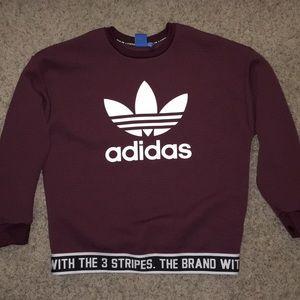 Adidas maroon shirt